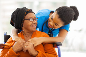 caregiver with the patients